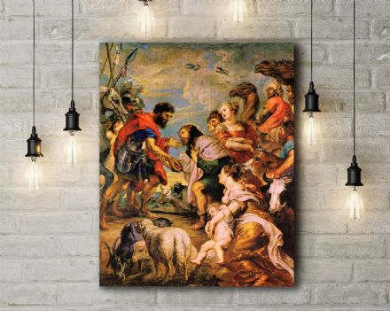 Peter Paul Rubens: The Reconciliation of Esau and Jacob. Fine Art Canvas.